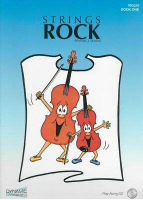 STRINGS ROCK - Violin Book 1 *NEW* Tuition Inc. Play Along CD Michael J. Stocks