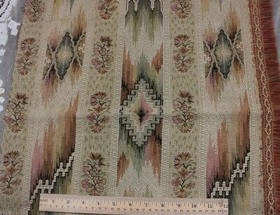 Antique French Heavy Cotton Jacquard Ethnic/Ikat Home Fabric c1920-1930s