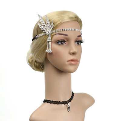 Fascinator Hair Clip Headband Wedding 20s Gatsby Party Vintage Headpiece 3color