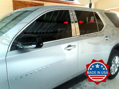 Custom for 2018-2020 Chevy Traverse Chrome Stainless Steel Pillar Post Trim 6PCS Tyger Auto Made in USA