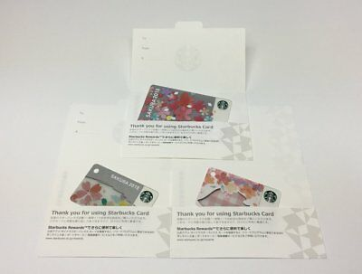 Japan Limited Starbucks Sakura 2018 Gift Card Set