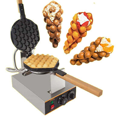 Electric Waffle Baker Machine Egg Cake Oven Bread Maker Stainless Steel 220V 1.4