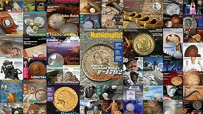 THE NUMISMATIST MAGAZINE (2009 - 2017) Coins Banknotes PDF only Books