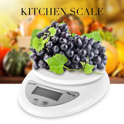 CableVantage Digital Kitchen Scale 1-5000g Diet Food Compact Kitchen Scale 0.1 -