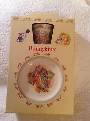 Vintage 1989  Royal Doulton Bunnykins  (3) Piece Childrens Dish Set - New in Box