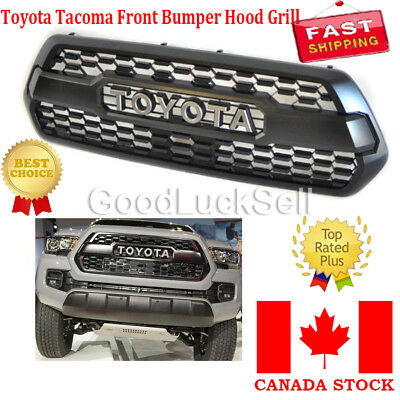 Front Bumper Hood Grille Black For Toyota Tacoma TRD PRO 2016 2017 2018 CANADA