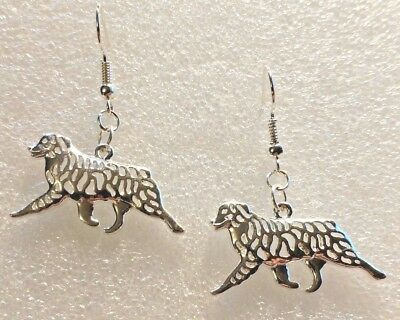 Earrings Australian Shepherd Aussie Dog Silver Handcrafted Drop Hook Jewelry