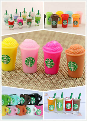 Dollhouse Miniature Coffee Frappuccino Smoothie Starbucks Cup Drink 1:12 x5pc