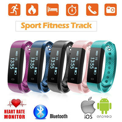 ID115HR Bluetooth Sporte podómetro Smart Band Para Android IOS Paso perseguidor