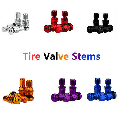 4pcs Set Bolt-in Aluminum Car Tubeless Wheel Tire Valve Stems With Dust Caps