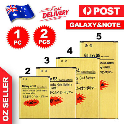 New GOLD Li-ion Replacement Battery For Samsung Galaxy S3 S4 S5 S6 Note 3 4 Edge