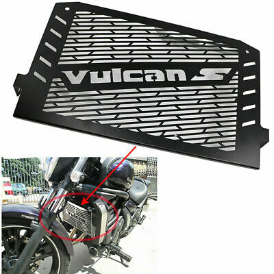 Black Radiator Grille Guard Cover Shield For Kawasaki Vulcan S 650 EN650 15-16