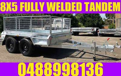 8x5 tandem trailer fully welded galvanised cage heavy duty new wheels adelaide