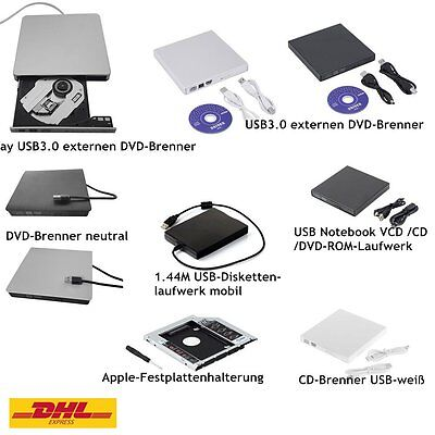 CD DVD RW Brenner Slim USB extern Laufwerk CD Brenner Notebook Laptop Netbook GH