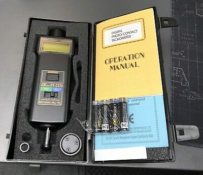 DT-2236 PHOTO / CONTACT TACHOMETER - 4 x AA batteries included