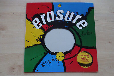 "Erasure Autogramme signed LP-Cover ""The Circus"" Vinyl"