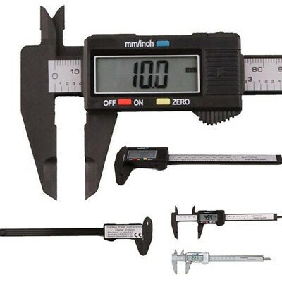 Digital Electronic Caliper Vernier Plastic Gauge Micrometer LCD Readout 0-150mm