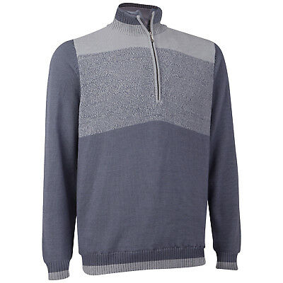 Ashworth Merino Wool Half-Zip Wind Sweater Windstopper Pullover 50% UVP € 190,00