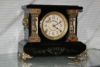 ANTIQUE SETH THOMAS SHELF MANTLE CLOCK-Totally!!-Restored- c/1896
