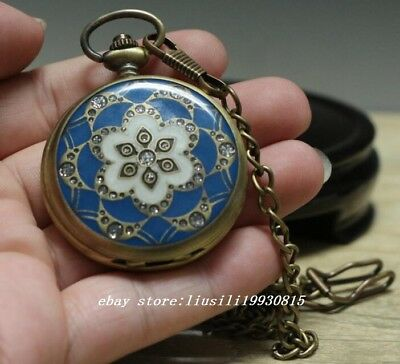 China's Tibet Collectible Handwork flowers mechanical pocket watch