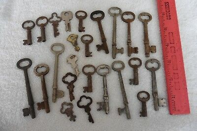 Lot of Skeleton Keys vintage antique hollow barrel key Presto RH Co eagle lock +