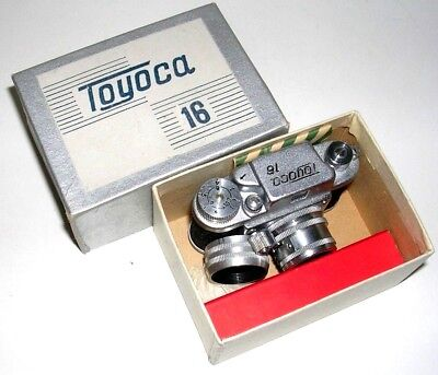 Vintage Toyoca 16 Subminiature Camera in Box w. Extras