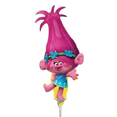 New Trolls - Poppy Mini Shape Foil Balloon (Inflated Stick Included)