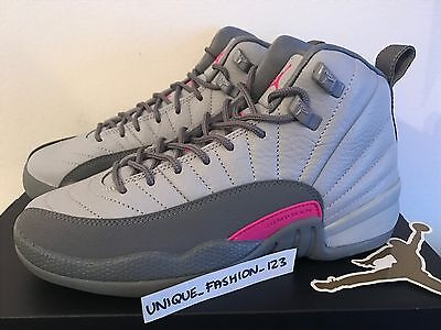 outlet store 3b977 84f51 NIKE AIR JORDAN Xii 12 Retro Gg Gs Uk 3 4 5 6 7 Wolf Grey Vivid Pink 510815- 029 -  170.62   PicClick