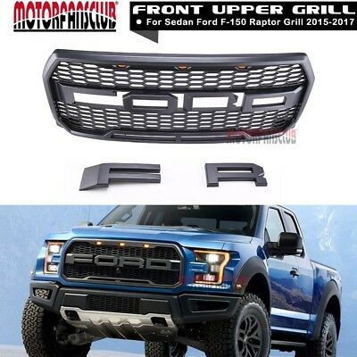 2015 2016 2017 Ford F-150 Raptor Conversion Packaged FORD Letter Gray Grille