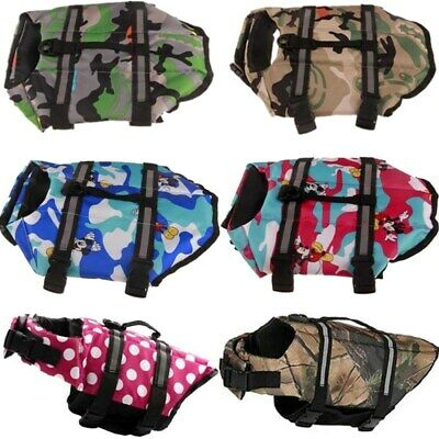 Puppy Pet Dog Life Jacket Preserver Swimming Surf Safety Reflective Saver Vest