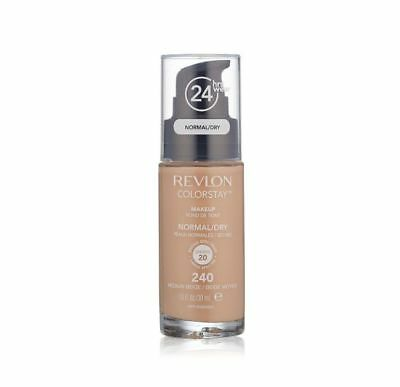 Revlon Colorstay for Normal/Dry Skin Makeup, Medium Beige 1 oz  #240