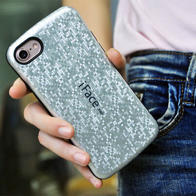 iface Hybrid Mosaic Rugged Rubber Shockproof Case For iPhone X SE 6 6s 7 8 Plus