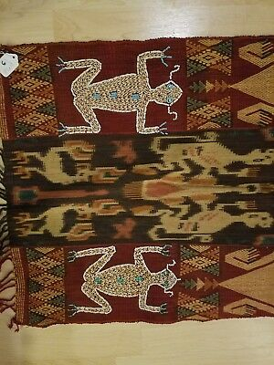 Vintage Sumba Ceremonial textile: ikat, embroidery and supplementary weave
