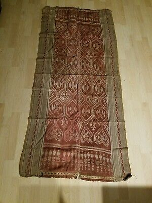 Antique Tribal Borneo Textle: 19th Century Pua Ikat