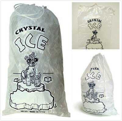 20 LB LBS Ice Bag Bags w/ Drawstring COMMERCIAL Choose Your Quantities
