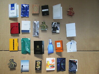 24 X Mens Wedding Favours Lot Of All Diffe Aftershave Samples