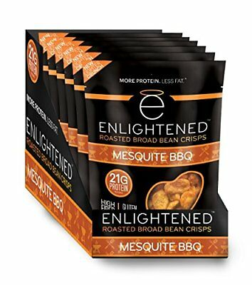 Enlightened Plant Protein Gluten Free Roasted Broad (Fava) Bean Snack, Mesquite,