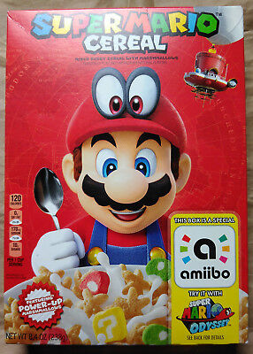 SUPER MARIO ODYSSEY - Kelloggs Mixed Berry Cereal - New Nintendo Amiibo Code