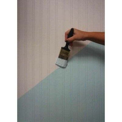 56 sq. ft. (1 Roll) White Paintable Beadboard Wallpaper Textured Pre-Pasted Easy