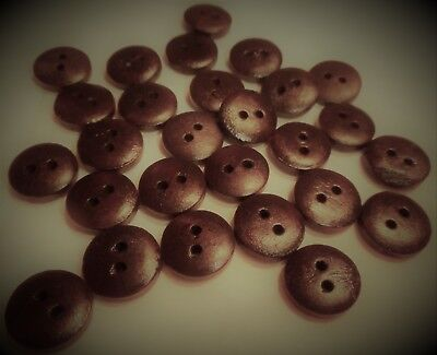 """LOT OF 26 Dark Brown/black  buttons  various sizes 1/2"""" sewing crafts"""