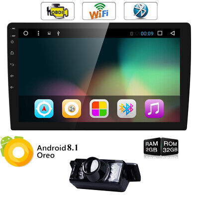 "Double 2 Din 10.1"" Android 8.1 In Dash Car Stereo GPS NAV Radio 1080P Video OBD2"