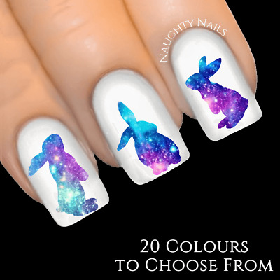 BUNNY SILHOUETTE Easter Nail Art Water Decal Transfer Sticker Tattoo