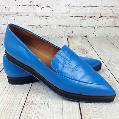 43497c2759a Other Stories Pointed Toe Women s Loafers Size 40 US 9.5 Slip On Shoes Blue