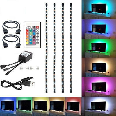 4Pcs USB Powered RGB 5050 LED Strip Lighting for TV Computer Background Light