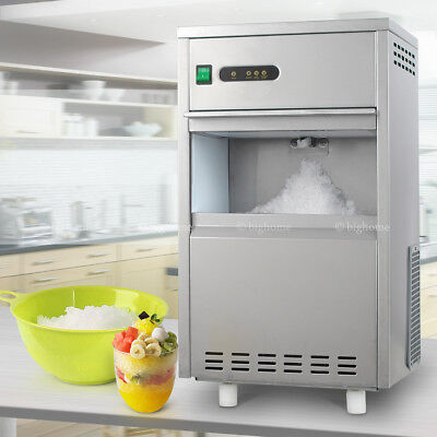 2018 Stainless Steel Snow Flake Ice Maker Machine Freestanding Style 44lbs Daily