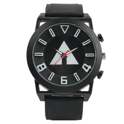Fashion Mens Quartz Rubber Band Military Sports Wrist Watch Large Dial Watches