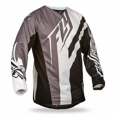Fly Racing NEW Mx Gear Kinetic Division BMX Black White Adult Motocross Jersey