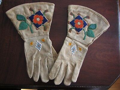 Old Beaded Northern Plains Gauntlets
