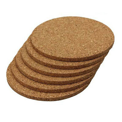 Cork Coasters Thick - Round Edges - Pack of 12 L2I9