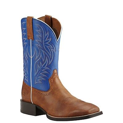 Ariat Men's Boots 'Sport Western Wide Square Toe' Red Angus Brown Royal